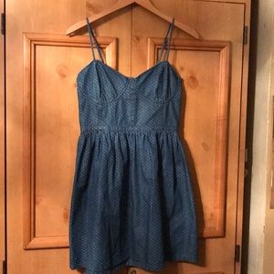 Free people denim Sz M 8-10 bustier jean dress